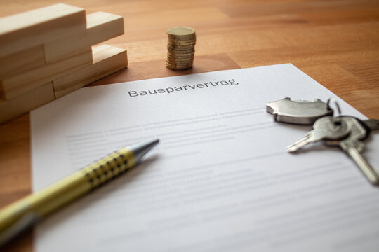 home savings contract on a table