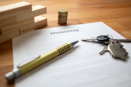rental contract on a table