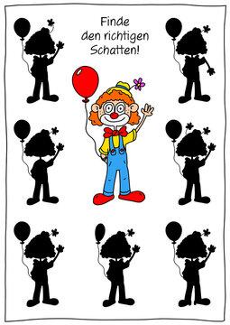 Rätselbild Clown / Fasching / Karneval / Zirkus