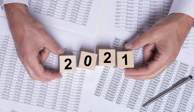 2021 year concept for business, budget and financial planning