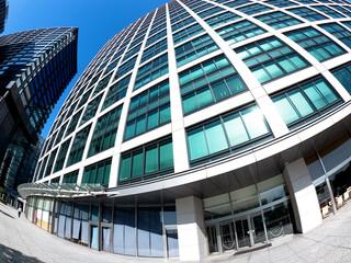 Fototapete - 東京都 汐留のオフィスビル街