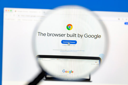 Ostersund, Sweden - Nov 12, 2020: Google Chrome homepage on a computer screen. Google Chrome is a cross-platform web browser developed by Google.