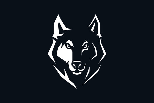 Edgy Design Head of Aggressive Wolf