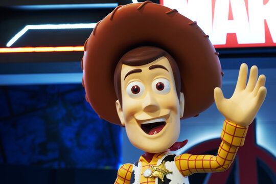 Bangkok,Thailand,Dec29 ,2018,Woody actor statue from Toystory movie