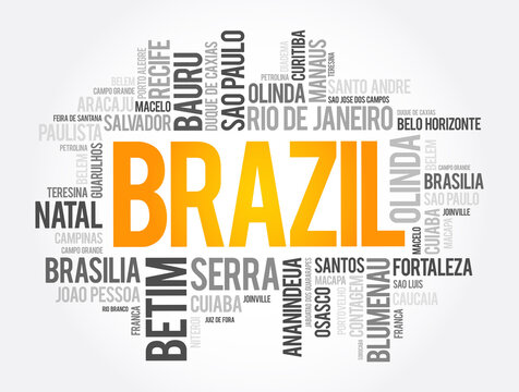 List of cities and towns in Brazil, word cloud collage