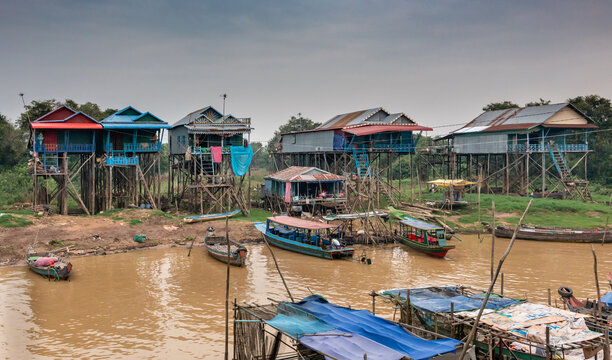 Floating village in Siem Reap, Cambodia.