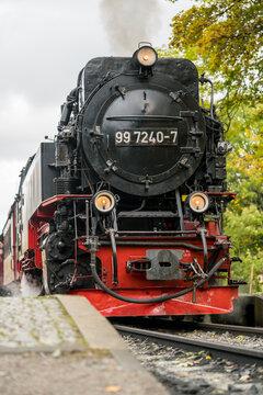 The Brockenbahn locomotive of the Harz mountain national park