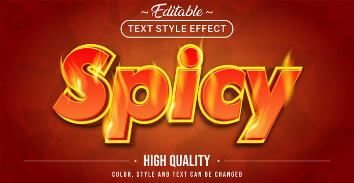 Red Spicy text effect - Editable text effect