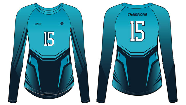 Women Sports t-shirt Jersey design concept Illustration Vector template suitable for girls and Ladies for Soccer jersey, Cricket jersey, Football jersey, Volleyball jersey, Rugby Jersey