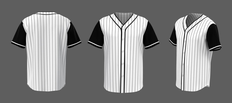 Baseball t-shirt mockup isolated on grey background, 3d illustration, 3d rendering