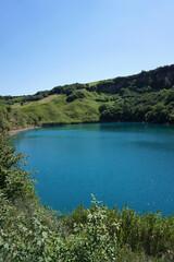 View of alpine blue lake Shadhurei Big