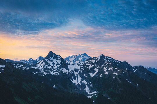 Beautiful North Cascades from the top of Winchester mountain, USA