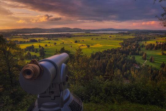 The viewpoint from Neuschwanstein Castle,