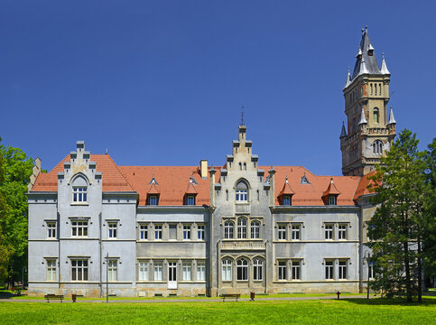 Upper Silesia region of Poland – famous old Palace Donnersmarckow, Naklo Slaskie is a village in Poland, located in the Silesian Voivodeship