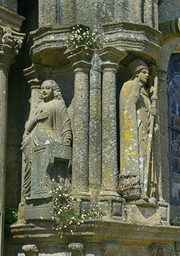 Saint Thegonnec - Statues at Calvary of Parish close (Enclos paroissial), architectural element typical of Brittany in north-western France, Finistere department