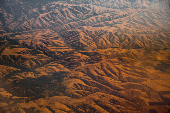 Above a Bizarre Landscape From A Plane