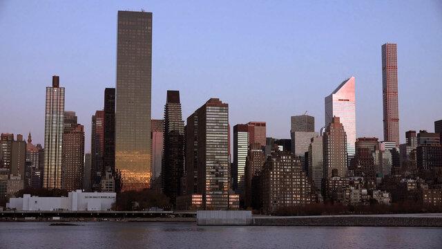 manhattan buildings, new york, usa