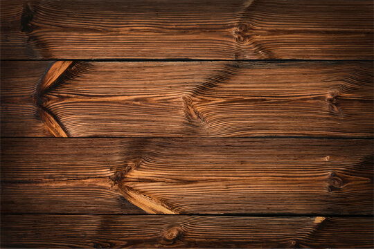 Dark brown vintage wooden planks background