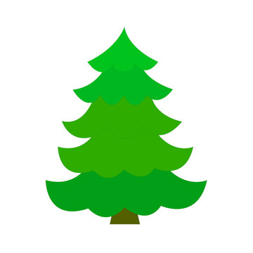 green christmas tree. Vector illustration