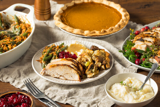 Homemade Thanksgiving Turkey Plate