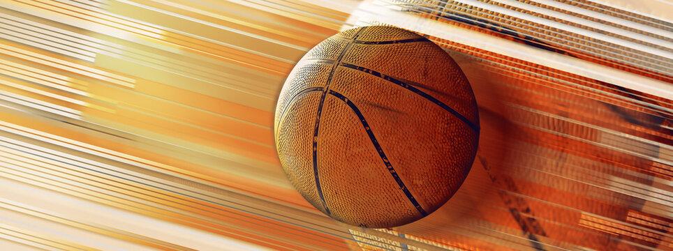 芸術的なバスケットボールのイラスト