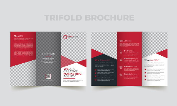 Creative corporate modern business trifold brochure template