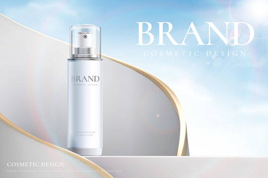 Cosmetic ads template design