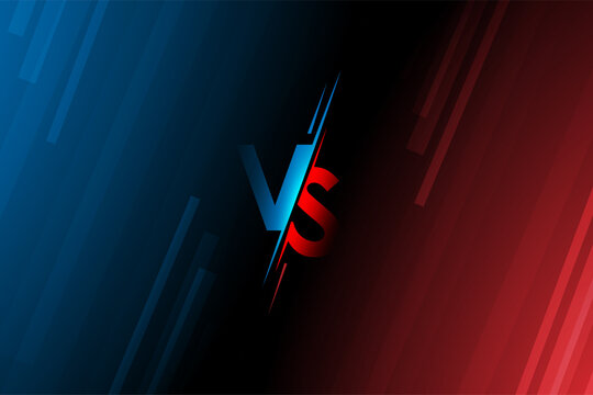 Versus VS letters fight Vector illustration on backgrounds in flat style design with halftone