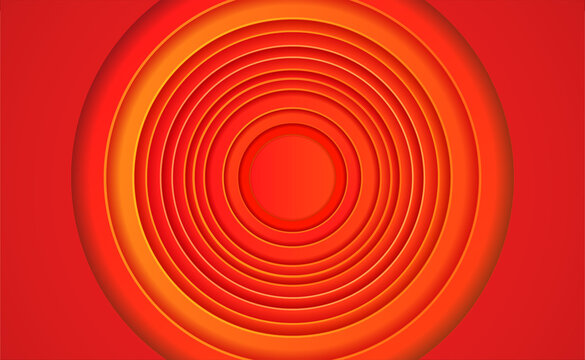 looney tunes red circles gradient background