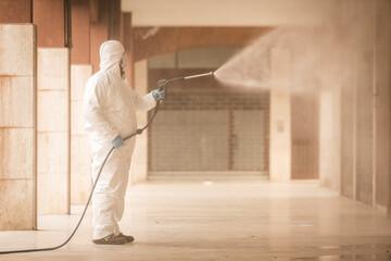 Disinfezione, sanificazione e pulizia di spazi pubblici a prevenzione della diffusione del virus...