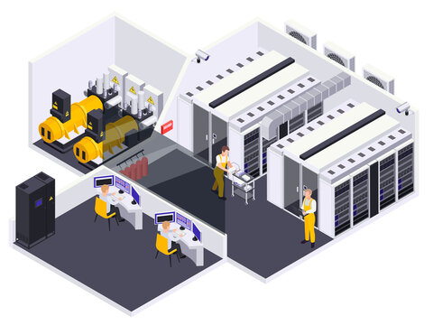 Data Center Isometric View