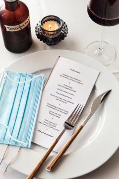 Corona-Menükarte Lockdown Gastronomie Hotellerie