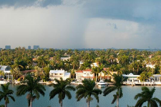 The Rainy Sky Over Miami Palm Island
