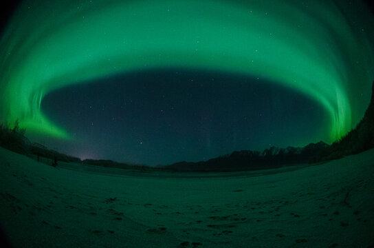 Northern Lights Aurora over Palmer Mountains, Alaska