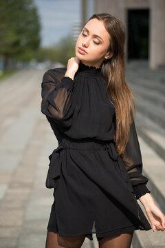 High fashion brunette.