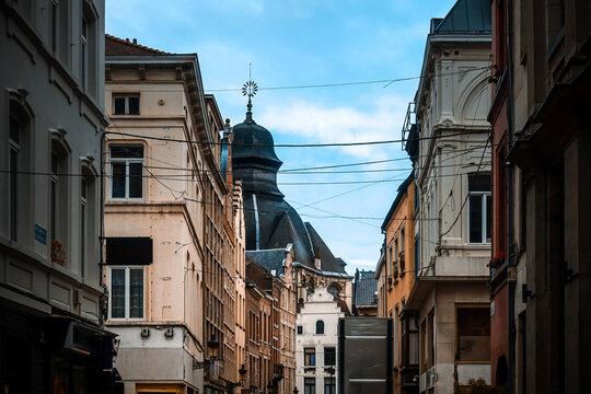 Antique building view in Brussel, Belgium