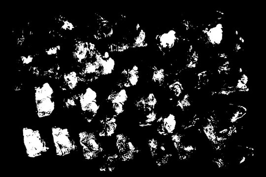 Collection of hand drawn white grunge brushes.