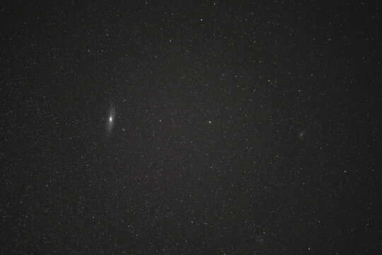 Andromeda Galaxy at night sky for background