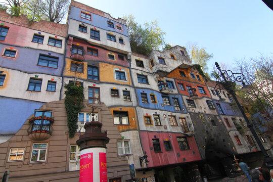 housing complex in Vienna Austria Hundertwasserhaus Vienna