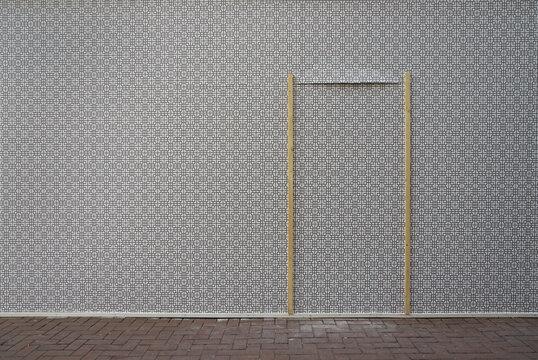 decorative wall with improvised door