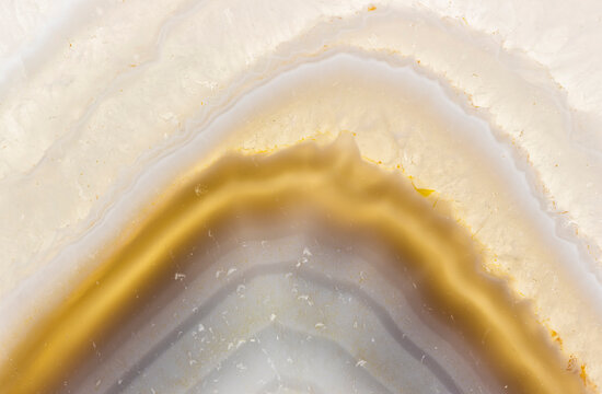 Macrophotograph Of The Detail Of An Agate from Madagascar