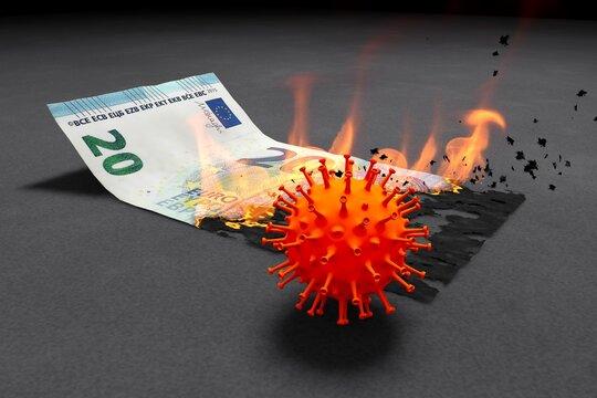 20 Euro brennen in der Krise