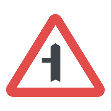 Direction to be followed. Turn left or continue straight ahead