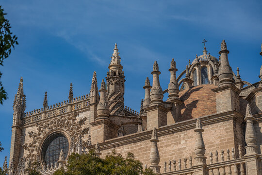 The Cathedral of Saint Mary of the See in Seville, Gothic cathedral, Unesco Word Heritage Site.