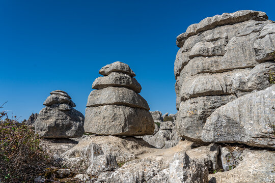 Park El Torcal de Antequera, unusual landforms, and is one of the most impressive karst landscapes.