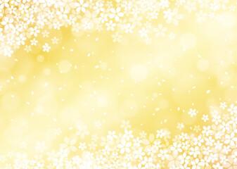 【桜の背景画像素材】煌びやかな桜の背景 金色【和風のデザインに】