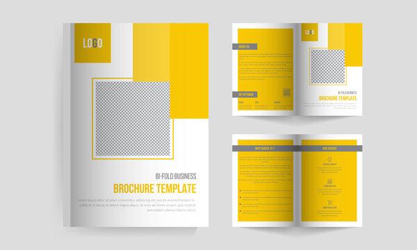 Business bi-fold brochure Template, Bi-fold brochure design template, bi-fold brochure, Business bi fold brochure design minimal and abstract design