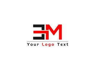 Fototapeta ME M E Letter Type Logo, me Logo Image obraz