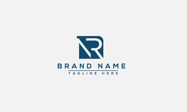 NR Logo Design Template Vector Graphic Branding Element.