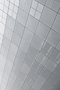 SEOUL, SOUTH KOREA - AUGUST 14, 2016: Segment of a ceiling of Dongdaemun Design Plaza roof in Seoul, designed by Zaha Hadid - Seoul, South Korea